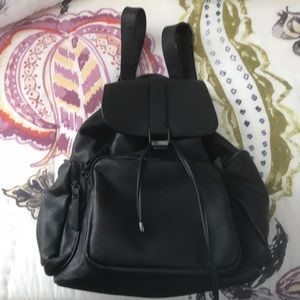 Top shop leather backpack worn 1x